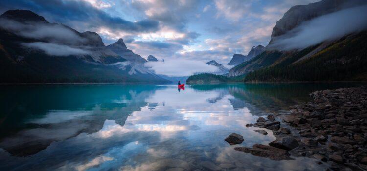 Maligne Lake Canoe Trip